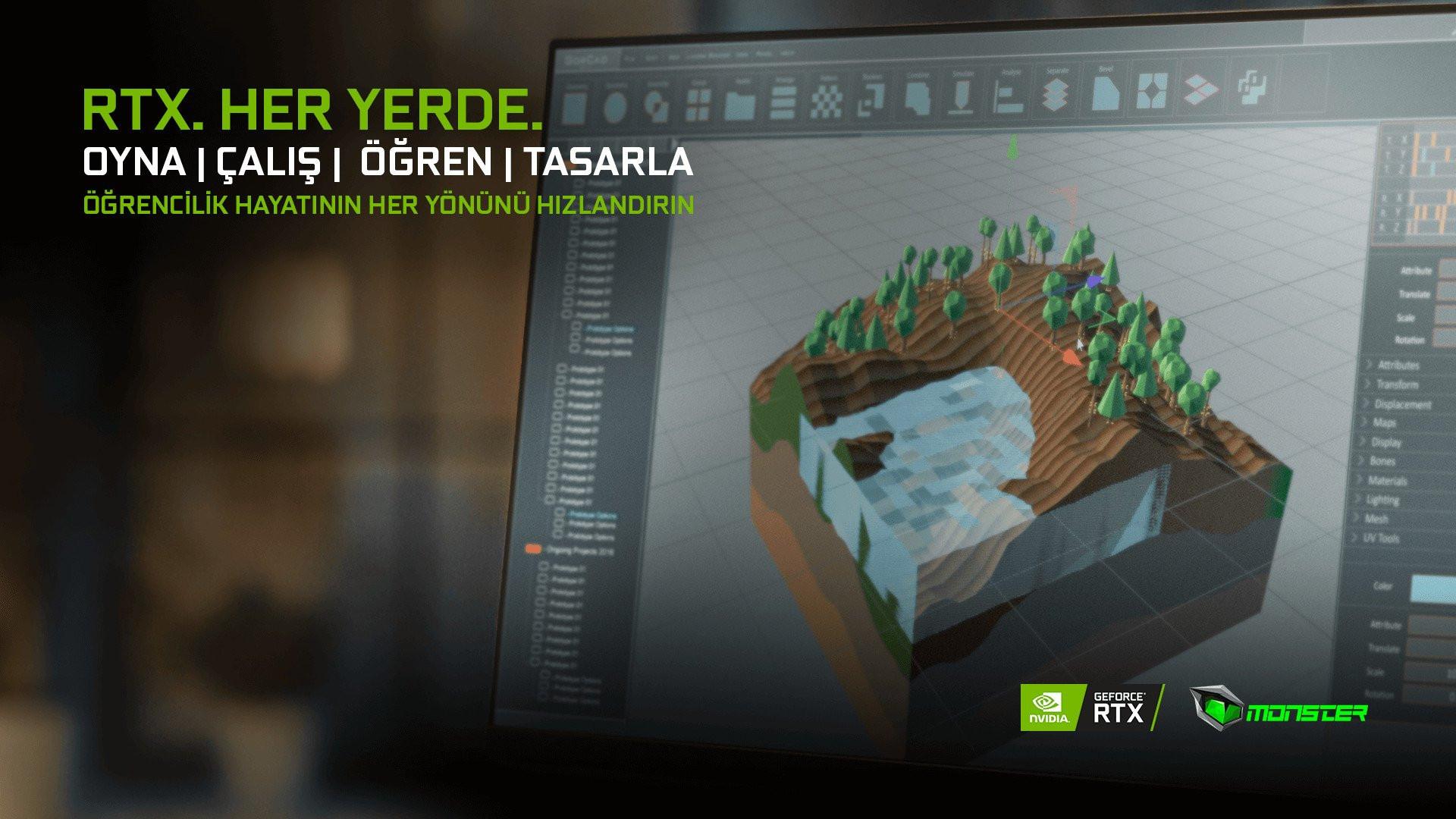 Abra serisi Monster laptoplar NVIDIA GeForce RTX 3050 ve 3050 Ti ekran kartlarıyla performansın sınırlarını zorluyor
