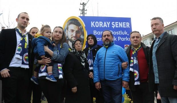 Ali Koç katıldı, Koray Şener Parkı açıldı
