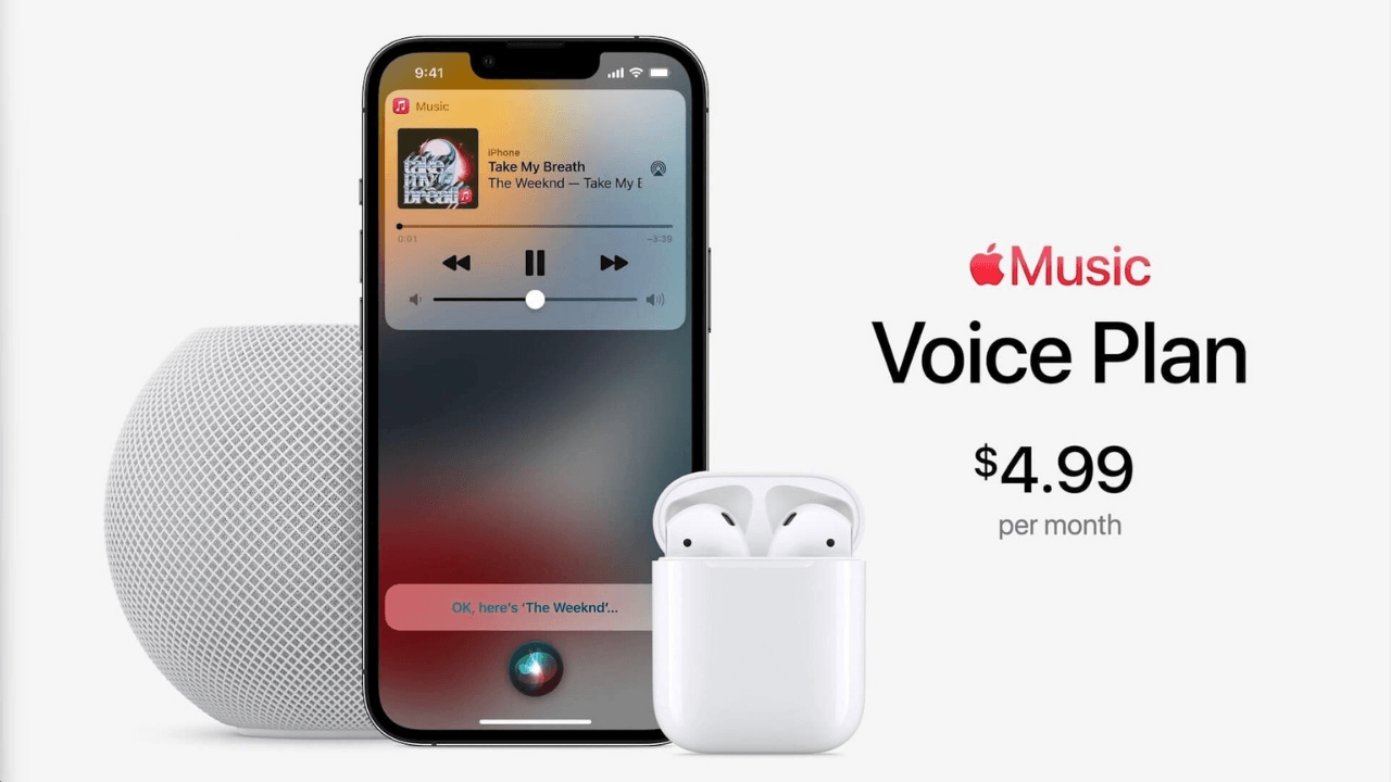 Apple'dan ayda 4,99 dolara yeni Apple Music planı: Voice Plan