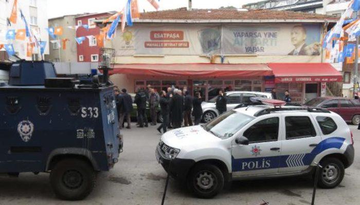 Ataşehir'de hareketlilik! AK Parti seçim bürosu önünde silah sesleri