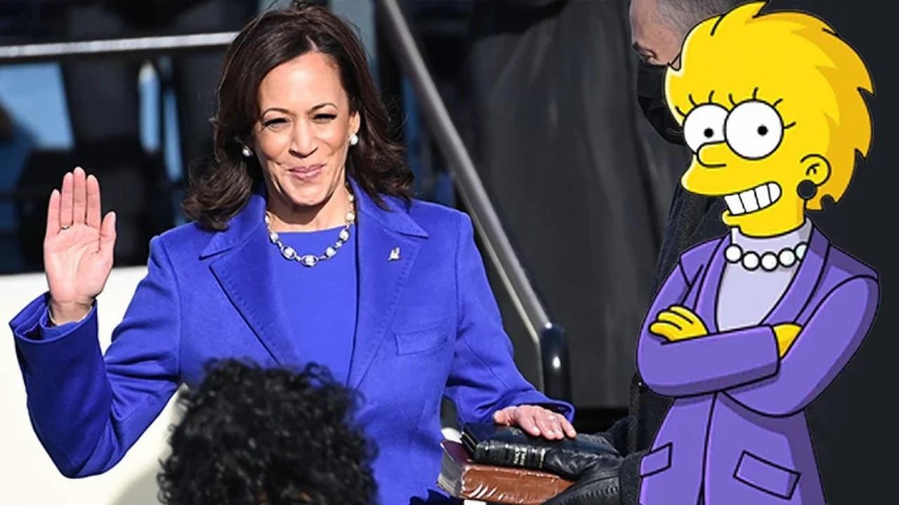 Biden ve Harris'in yemin törenine Simpsonlar damga vurdu!