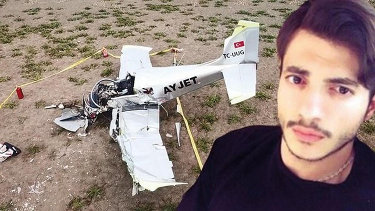 Düşen eğitim uçağının pilotu hayatını kaybetti