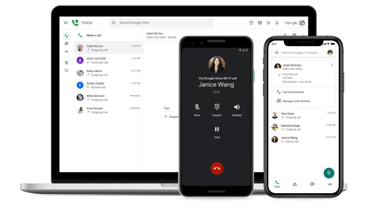Google Voice, yeni cevapsız arama ve arayan kimliği özellikleri kazandı
