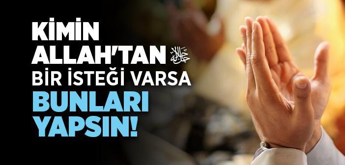 Hacet Duası Arapça Türkçe Okunuşu ve Anlamı