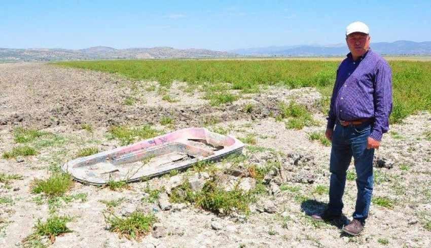 Kuruyan göle buğday ekenlere milyonluk ceza