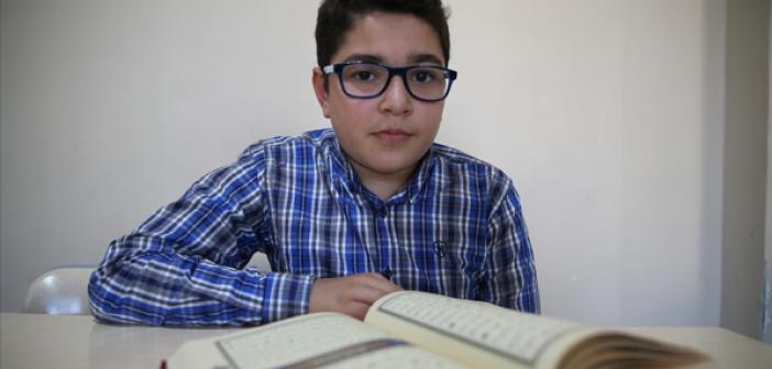 Mardin'de 8 Ayda Hafız Olan 12 Yaşındaki Bilal, Türkiye Birincisi Olmak İçin Çalışıyor