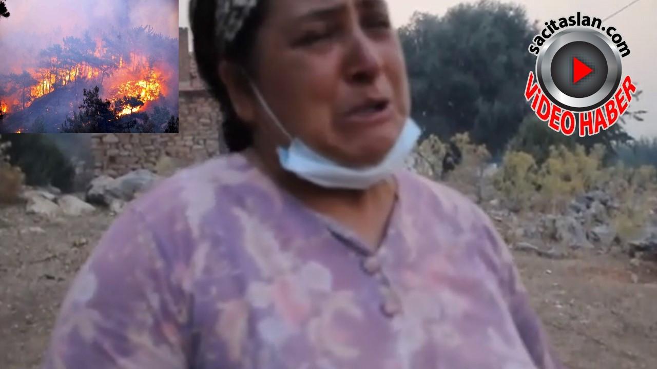 Milas'taki Beyciler köyü sabaha kadar yandı