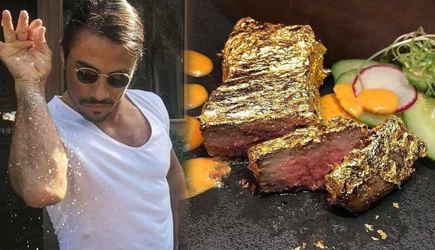 Nusret'in altın kaplamalı bifteğinin fiyatı İngilizleri şoke etti!