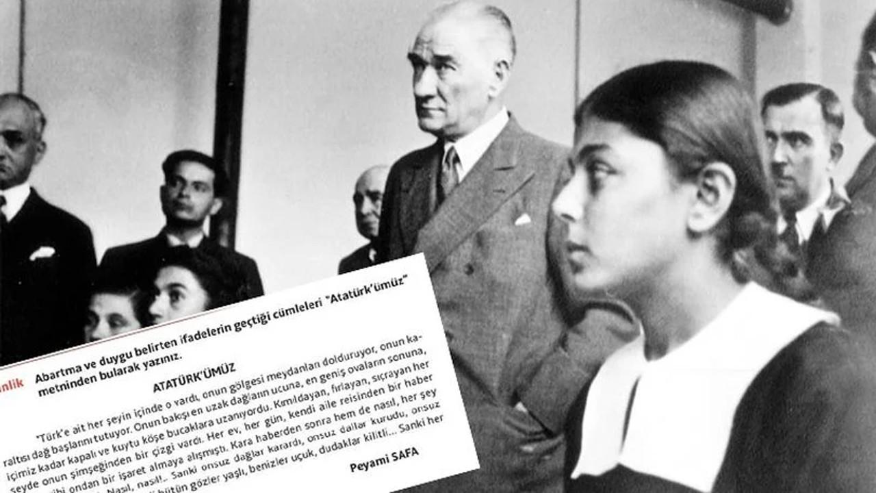 Peyami Safa'nın Atatürk'e övgüsünü abartı saydılar