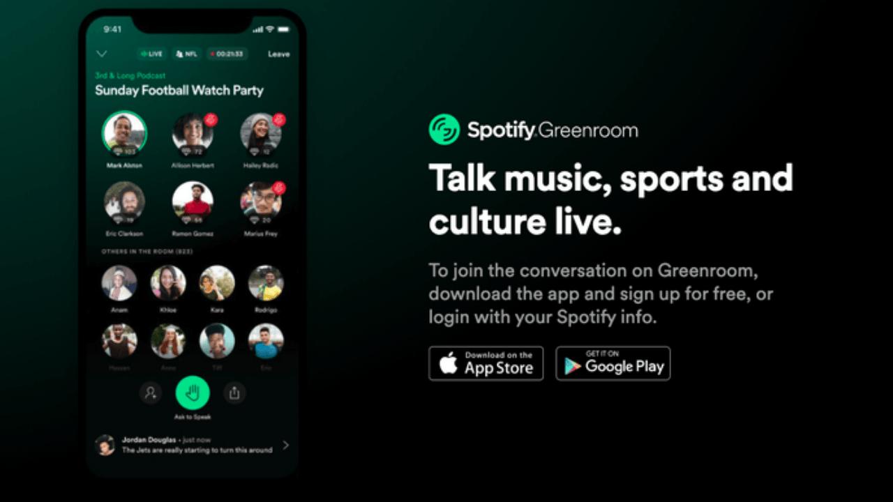 Spotify'ın Clubhouse benzeri uygulaması Greenroom'un indirilme sayısı 240 bine ulaştı