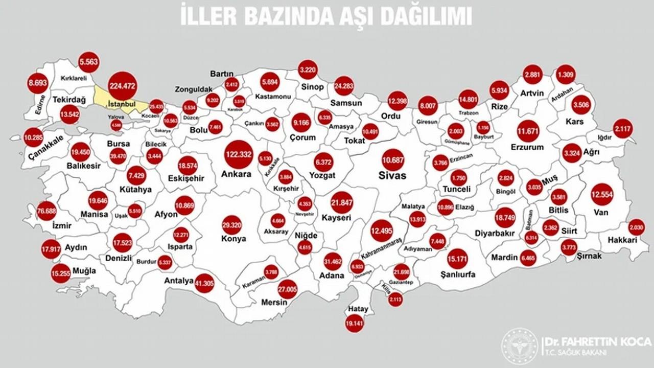 Türkiye'nin aşı haritası erişime açıldı!