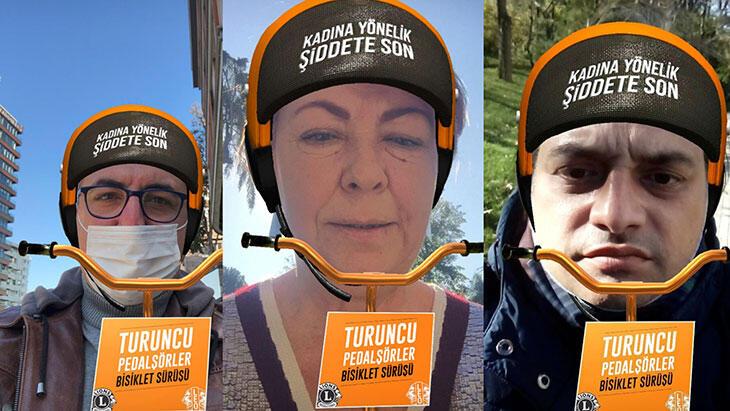 Turuncu Pedalşörler, kadına yönelik şiddete karşı bu yıl da pedal çevirdi