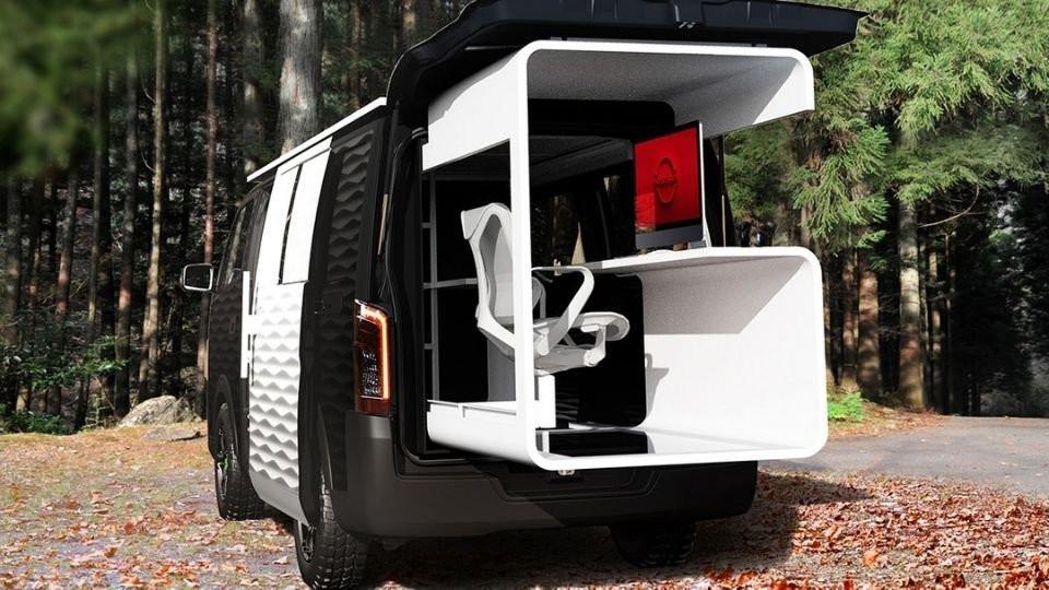 Uzaktan çalışma trendini değerlendirmek isteyen Nissan'dan ofis karavan
