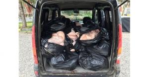 Diyarbakır'da 500 kg kaçak et ele geçirdi