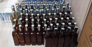 Edirne'de 169 şişe kaçak içki ele geçirildi