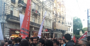 İstiklal'deki laiklik yürüyüşünden görüntüler