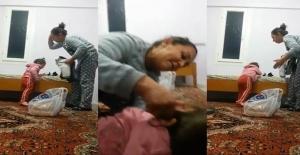 Mersin'de küçük çocuğa öz anneden işkence