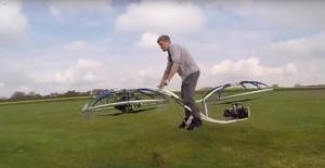 Sınırları zorladı: Uçan Motorsiklet İcat etti!