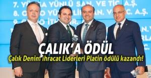 Çalık Denim'e İhracat Liderleri Platin Ödülü