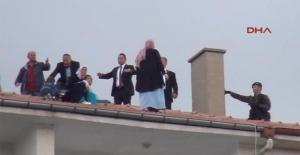 Cumhurbaşkanı Erdoğan'ın ziyaretinde hareketli dakikalar!