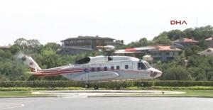 Erdoğan kızının düğününe helikopterle geldi