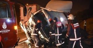 FSM köprüsü çıkışında trafik kazası: 3 yaralı