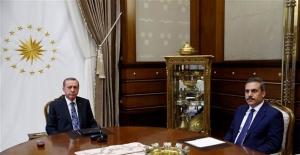 Erdoğan Hakan Fidan ile görüşüyor