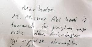 """Fetullah Gülen'in yeğenine gönderilen not, """"Abi hani iş tamamdı?"""""""