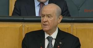 """Bahçeli'den anayasa açıklaması, """"Mecliste de referandum da EVET diyeceğim"""""""