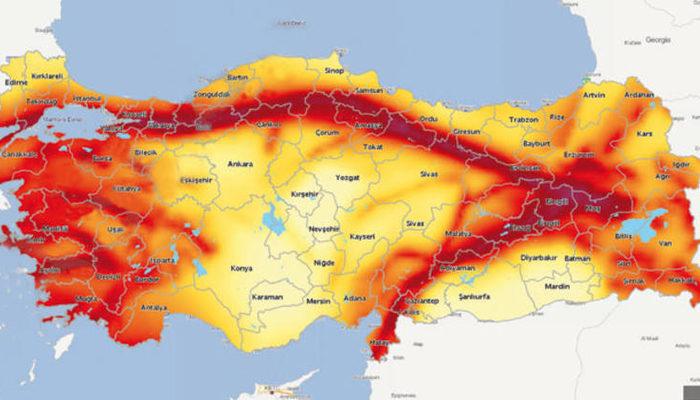 Türkiye'nin deprem haritası güncellendi! 46 ilin risk derecesi düştü, 6 ilin yükseldi