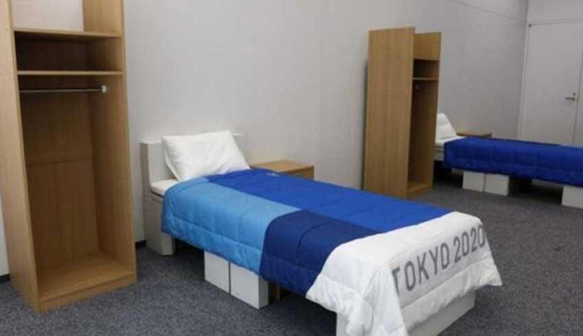 Tokyo Olimpiyatları için özel yapıldı! Seksi önleyen yatak