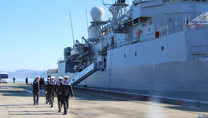 Trabzon 'da kurulan deniz üssünün ilk askeri gemisi demirledi
