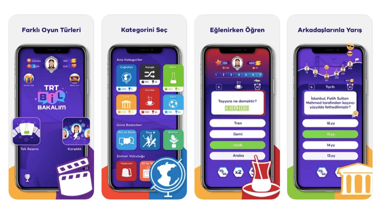 TRT'den mobil bilgi yarışması: TRT Bil Bakalım