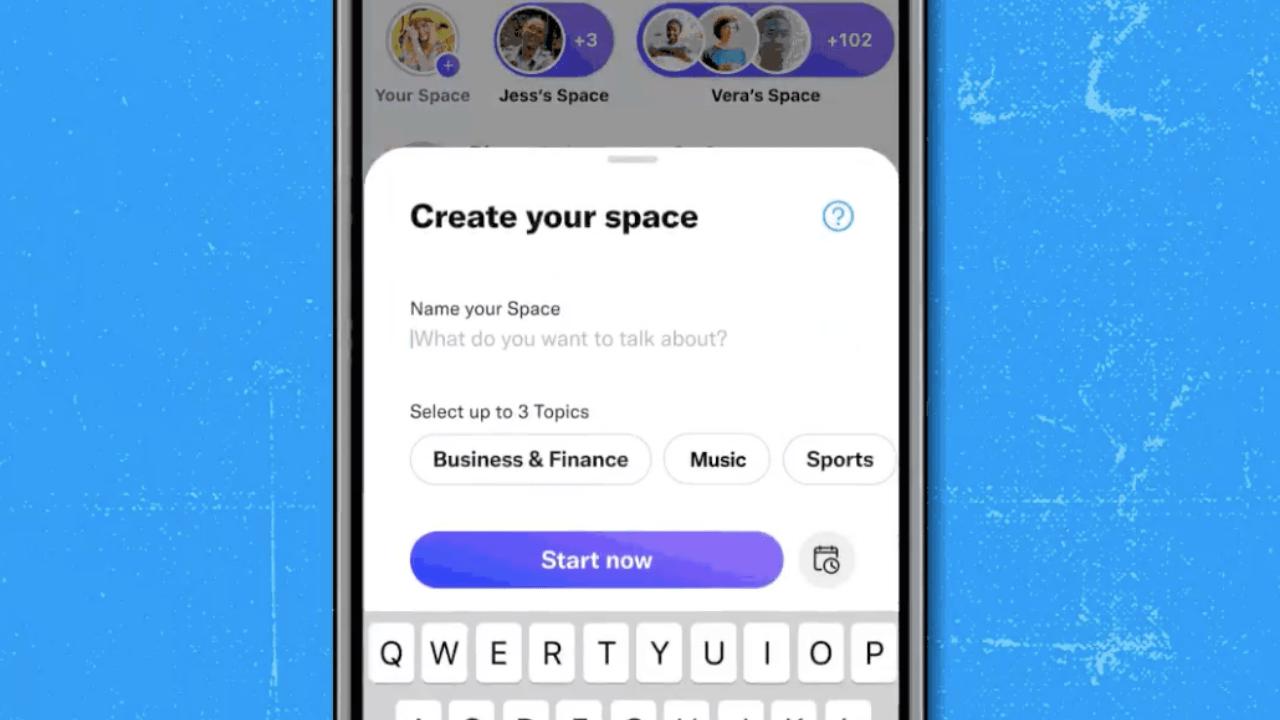 Twitter, artık herkesin Spaces odası oluşturmasına izin veriyor