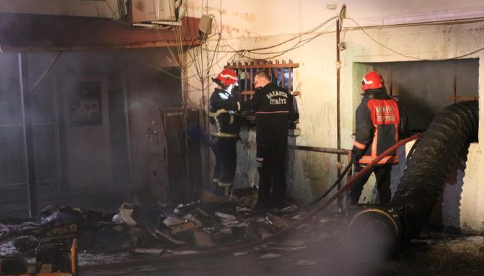 Üniversite hastanesinin arşivinde yangın