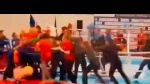 Azerbaycan ve Ermenistan sporcuları kavga etti
